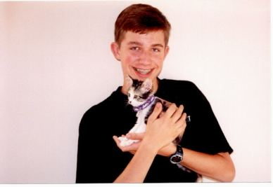 Paul holds Cleo - May 1999